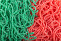 rubber candies in the shape of a snake Royalty Free Stock Photo
