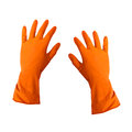 Rubber cleaning gloves Royalty Free Stock Photo
