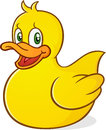 Rubber duck cartoon character a cute yellow ducky perfect for baby s bath time Royalty Free Stock Photos