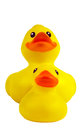 Rubber duck and ducking Stock Photos
