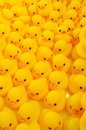 Rubber duck group of yellow Stock Photos