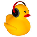 Rubber duck listing music for adv or others purpose use Royalty Free Stock Photography