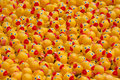 Rubber ducks en masse duck conventioners in search of a tub Stock Photo
