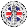 Rubber grunge stamp London Great Britain Royalty Free Stock Photo