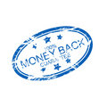 Rubber ink stamp: money back Royalty Free Stock Photo