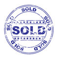 Rubber ink stamp: sold (vector) Royalty Free Stock Photo