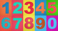 Rubber numbers Royalty Free Stock Photography
