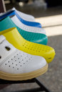 Rubber sandals photo of colorful Stock Images
