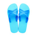Rubber slippers isolated on white background Royalty Free Stock Photography