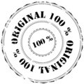 Rubber stamp: 100% Original Royalty Free Stock Photo