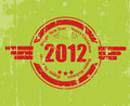 A rubber stamp for 2012 Stock Image