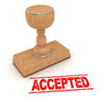 Rubber Stamp - Accepted Royalty Free Stock Photo