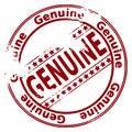 Rubber stamp GENUINE
