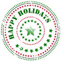 Rubber stamp: Happy Holidays Royalty Free Stock Image