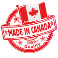 Rubber stamp made in Canada Royalty Free Stock Photo