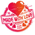 Rubber stamp made with love