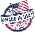 Rubber stamp made in usa and customer service Stock Image