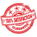 Rubber stamp one hundred percent satisfaction and guarantee Royalty Free Stock Photography
