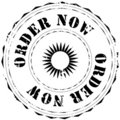 Rubber stamp: Order now Stock Photography