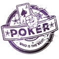 Rubber stamp with poker