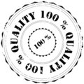 Rubber stamp: Quality 100% Stock Photography