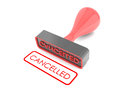 Rubber stamp text cancelled on white background Stock Photography