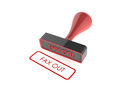 Rubber stamp text fax out on white background Royalty Free Stock Photography