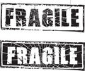 Rubber stamp with the text fragile Royalty Free Stock Images