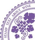 Rubber stamp for wine decoration; wine logo template.