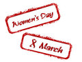 Rubber stamp for Womens Day. Stock Photo
