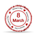 Rubber stamp for Womens Day. Stock Images