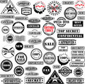 Rubber stamps collection Royalty Free Stock Photos