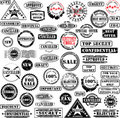 Rubber stamps collection Royalty Free Stock Photo