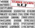 Rubber stamps collection DEF Royalty Free Stock Photography