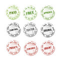 Rubber stamps collection vector Stock Photos
