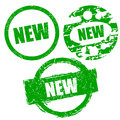 Rubber stamps set new green grunge vector illustration Royalty Free Stock Images