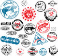 Rubber stamps Swine Flu grunge Royalty Free Stock Photo