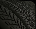 Rubber Tires and Treads Royalty Free Stock Image