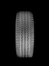 Rubber tyre a black isolated against a white background Royalty Free Stock Photos