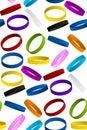 Rubber wristband bracelet seamless pattern backgro background vector Stock Photo