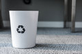 Rubbish bin with recycle logo Royalty Free Stock Photo