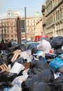 Rubbish crisis in Naples Stock Photos