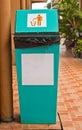 Rubbish et réutilisez les poubelles Photographie stock