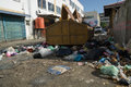 Rubbish everywhere at town which doest impact to our environment Stock Photo