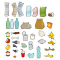 Rubbish icon collection. Garbage set. trash sign. litter symbol. Royalty Free Stock Photo