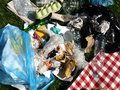 Rubbish in the open air Stock Image