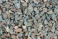 Rubble for construction works granite lies on an equal surface Royalty Free Stock Image