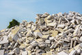 Rubble from a demolished building construction waste Royalty Free Stock Photography