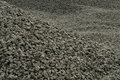 Rubble pile of on construction area close up Stock Images