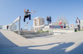 Ruben rodrigues cascais portugal april during the th stage of the dc skate challenge by fuel tv Stock Photography